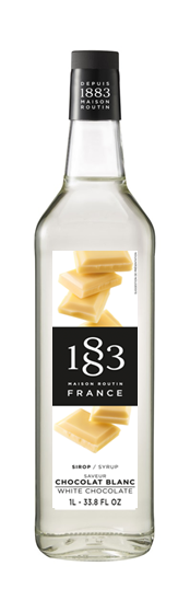 1883 Syrup White Chocolate 1L Glass Bottle