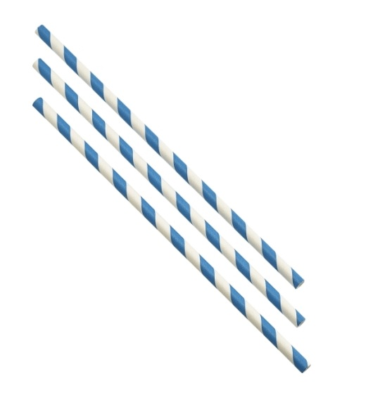 Paper Straws - Blue and White