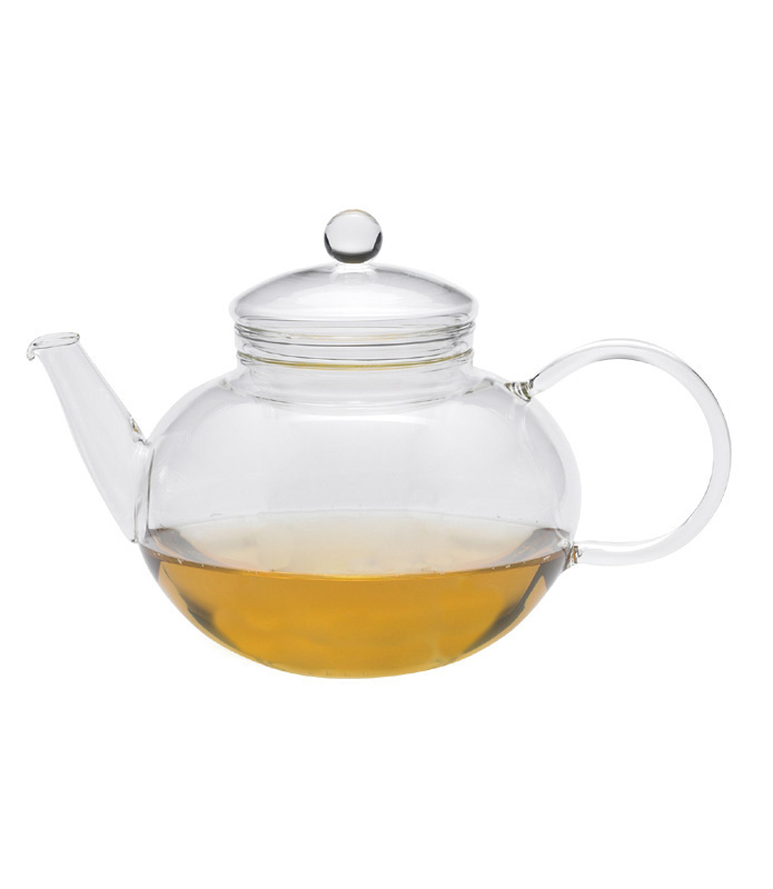 Round Glass Tea Pot